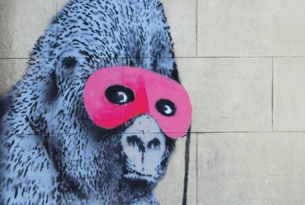 Gorilla in a Pink Mask