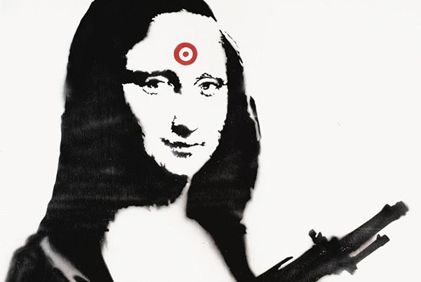 Mona Lisa with gun